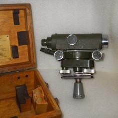 VAND TEODOLIT-NIVELA CARL ZEISS JENA Ni 030 LA CUTIA ORIGINALA - Microscop