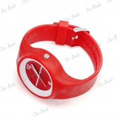 Ceas fete - marca SS.COM - carcasa rosie silicon - Ceas dama