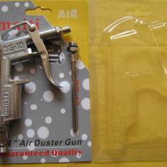 Compresor electric - PISTOL pentru suflat aer cu conectare la COMPRESOR ideal pentru curatat de praf piese, radiatoare, placi de baza, surse de calculatoare etc