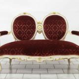 Mobilier - Salon stil Ludovic 3 piese tapiterie plus de matase