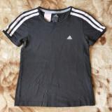 Tricou Adidas; marime 150 - pentru 11-12 ani: 38.5 cm bust, 43 cm lungime; 100% bumbac; stare excelenta