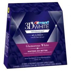 Albirea Dintilor cu Crest Whitestrips LUXE Glamorous White - CUTIE 28 BENZI