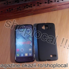 HUSA ORANGE HIRO silicon neagra subtire - Husa Telefon Orange, Alcatel OT-991, Negru