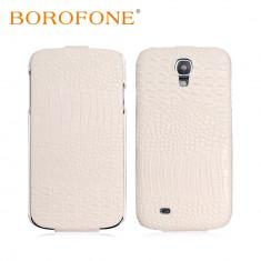 Husa LUX piele premium BOROFONE, SAMSUNG S4, piele crocodil, flip cover, alb - Husa Telefon Samsung, Alb, Piele, Husa