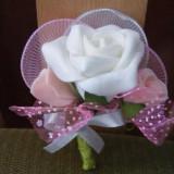 Decoratiuni nunta - Cocarde flori de nunta mari deosebite
