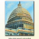 Capitol Hill - tablou ulei pe panza 60x50cm, livrare gratuita - Pictor roman, An: 2009, Peisaje, Altul