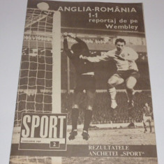 Revista Sport ianuarie1969 (Anglia-Romania;prezentare echipa Jiul Petrosani)
