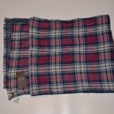 Fular/esarfa Armani Double Plaid Scarf - Esarfa Barbati Armani Exchange