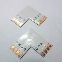 CONECTOR L CONECTARE RAPIDA BANDA LED RGB 4 PINI 10MM 5050 PCB