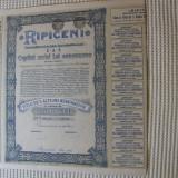 ACTIUNE RIPICENI 1943 VALOARE 2500LEI