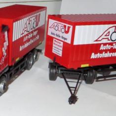 Macheta auto - Herpa VOLVO FH12 ATU container cu remorca 1:87
