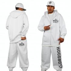 Trening barbati hip hop de bumbac Hoodboyz alb