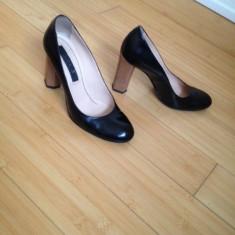 PANTOFI PIELE NATURALA LACUITA MUSETTE CHRISTHELEN B - Pantof dama, Marime: 37, Culoare: Negru
