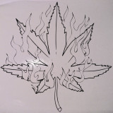 Marijuana_Sticker Auto_Perete_TRIB-023-Dimensiune: 35 cm. X 35 cm. - Orice culoare, Orice dimensiune