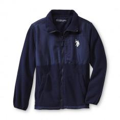 Jacheta NOUA polar U.S. Polo Assn. 14/16 ani SUA - transport gratuit - Jacheta barbati US Polo Assn, Marime: L, Culoare: Din imagine, Microfibra