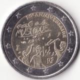 Moneda - Republica Franceza - 2 Euro 2011 - A 30-a aniversare a Zilei Internationale a Muzicii