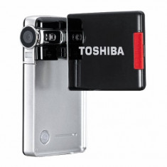 Camera Video HD Toshiba Camileo S10 - Camera Video Toshiba, Card Memorie, sub 3 Mpx, CCD, Sub 10x, 2 - 3