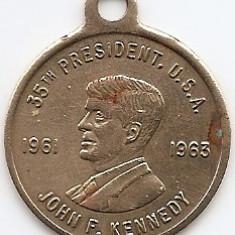 Medalie John F. Kenenedy - 1961-1963 35 th'President SUA (MC-46), America de Nord