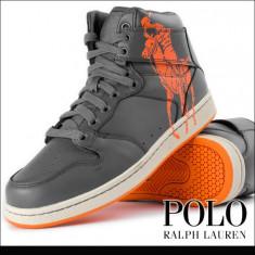 Ghete barbati Ralph Lauren, Piele naturala - Ghete POLO Ralph Lauren - Vance hi top leather sneakers, piele naturala 100%