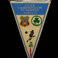 Fanion fotbal - PENTRU UN FAN STEAUA BUCURESTI - FANION - STEAUA BUCURESTI - OMONIA NICOSIA - CUPA CAMPIONILOR EUROPENI - 21 OCTOMBRIE 1987
