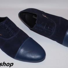 Pantofi CESARE PACIOTTI din Piele Intoarsa si Piele Naturala Model de Sezon !! - Pantofi barbati