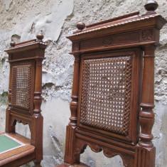 Mobilier - Pereche scaune vechi, antice - 1
