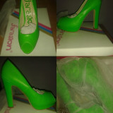 Pantofi verzi neon