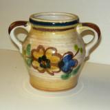 Vas cu toarte pictat - flori - 12 cm inaltime - vintage - 2+1 gratis toate produsele la pret fix - RBK6710