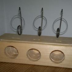 Cursa de soareci din lemn cu trei intrari