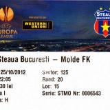 Bilet meci fotbal STEAUA Bucuresti - MOLDE FK 25.10.2012