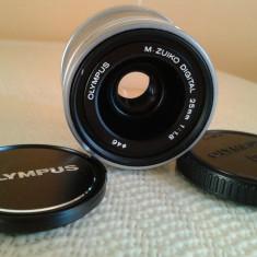 Obiectiv camera foto Olympus / Panasonic - OLYMPUS M.ZUIKO DIGITAL 25 mm. - Obiectiv DSLR Olympus, Standard, Autofocus, Olympus - OM, Stabilizare de imagine
