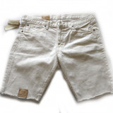 Pantaloni scurti blug Ralp Lauren albi talie 33 si 34 (reducere finala)