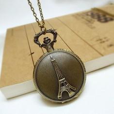 Ceas De Buzunar Avand Ca Tema Paris Turnul Eiffel - Quartz