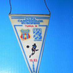 FANION FOTBAL CUPA CAMPIONILOR EUROPENI STEAUA BUCURESTI - IFK GOTEBORG - 15 MARTIE 1989 (01199)