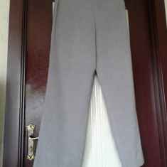 Pantaloni lungi dama din stofa plusata- CHARLES VOGELE - Pantaloni dama, Marime: 40, Culoare: Gri