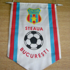 Fanion fotbal - MCF - FANION - STEAUA BUCURESTI - PIESA DE COLECTIE