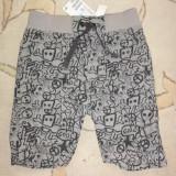Haine Copii 1 - 3 ani, Bermude, Baieti - Nou! Pantaloni scurti de vara gri cu negru, marca HM, baieti 2-3 ani