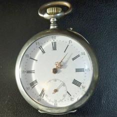 Ceas de buzunar de argint diametru mare