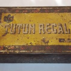 Cutie Reclama - Cutie metalica mare Tutun Regal anii '30