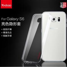 Husa Samsung Galaxy S6 G920F TPU Ultra Thin 0.3mm Transparenta + Folie by Yoobao - Husa Telefon Yoobao, Gel TPU, Fara snur, Carcasa