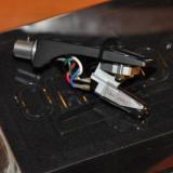"Doza ""Ortofon Pro OM Cartridge"", ac sferic (nu eliptic) si ""Technics Headshell"" - Pickup audio"