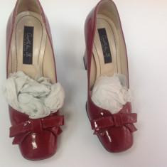 OCAZIE!!! Pantofi MUSETTE NOI!! - Pantof dama, Marime: 35, Culoare: Rosu, Piele naturala