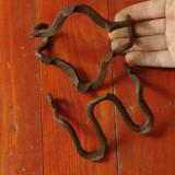 Metal/Fonta - Vintage lot 2 bucati - coltar de alpinism din metal realizat manual la nicovala