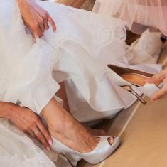 Pantofi de mireasa sau de gala - Pantof dama Puma, Marime: 38, Culoare: Argintiu, Piele naturala