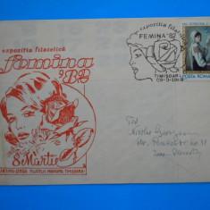 HOPCT PLIC 301 EXPOZITIA FILATELICA FEMINA 1982 / 8 MARTIE 1982 TIMISOARA