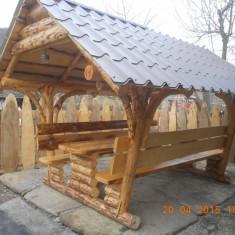 FOISOR RUSTIC DIN LEMN MASIV - Mobila terasa gradina