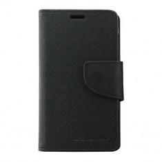 Husa Atlas, Negru, Textil, Toc - Toc My-Fancy Nokia 520/525 Lumia Negru