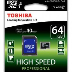 Card de memorie Toshiba Micro SD UHC I 64GB Clasa 10 Original - Card memorie Samsung