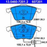 Placute frana Audi A8 (4E) - Ate, A8 (4E_) - [2002 - 2010]