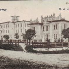 Romania, Sf. Gheorghe carte postala cenzurata circulata 1918: Fabrica de tutun, Sfantu Gheorghe, Fotografie